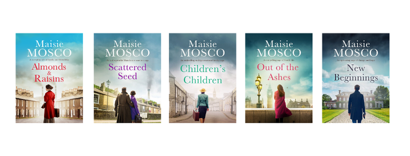 Almonds and Raisins, Scattered Seed, Children's Children, Out of the Ashes and New Beginnings, by Maisie Mosco