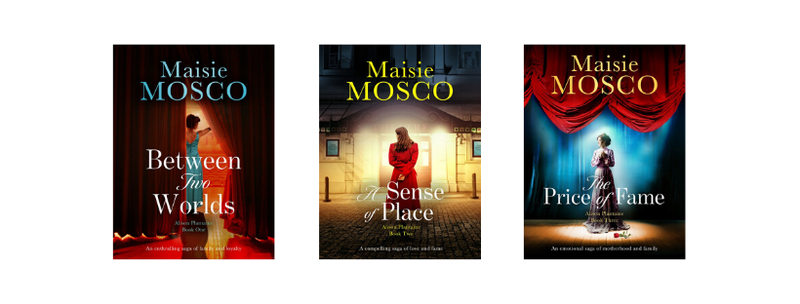 Between the Worlds, A Sense of Place and The Price of Fame, the three books in the Alison Plantaine Series